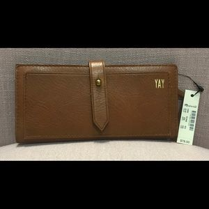 NWT Madewell The Post Leather Wallet